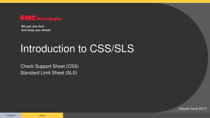 introduction to css sls n.