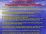 protect wv staff prepare for business continuity
