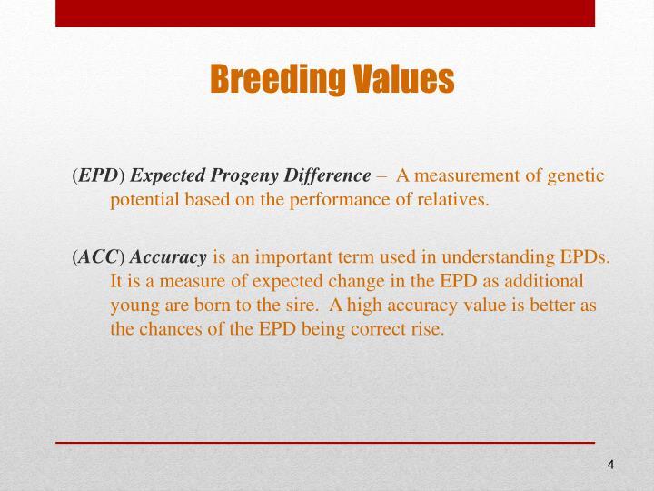 Breeding Values