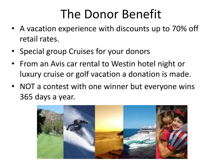 The Donor Benefit