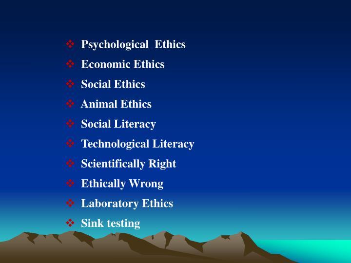 Psychological  Ethics