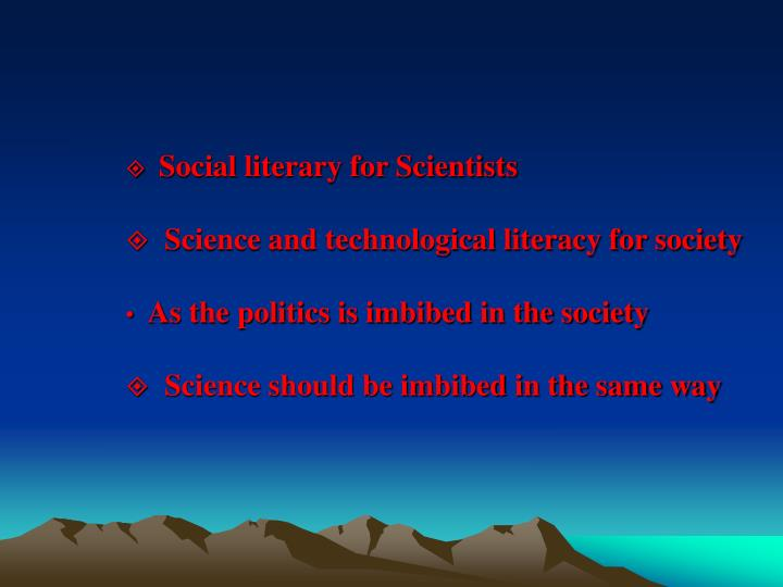 Social literary for Scientists