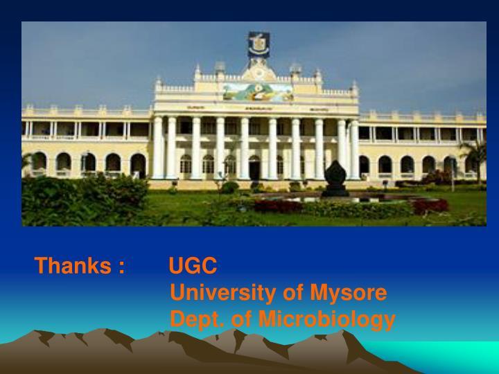 Thanks :       UGC