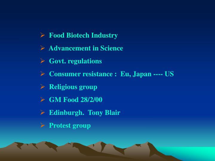 Food Biotech Industry