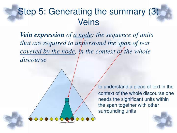 Step 5: Generating the summary (3)