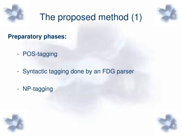 The proposed method (1)