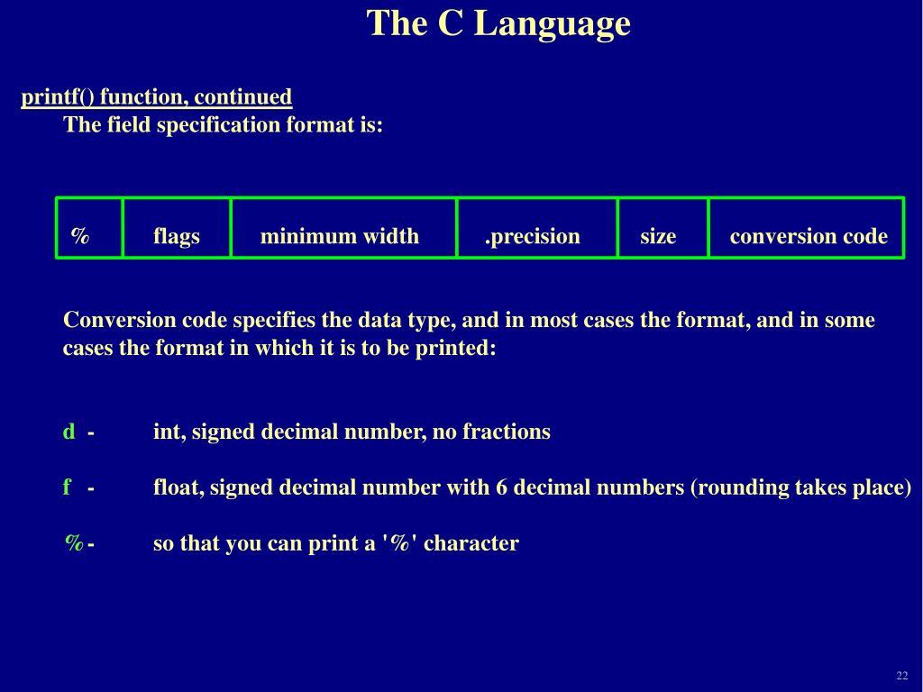 PPT - IPC144 Session 11 The C Programming Language