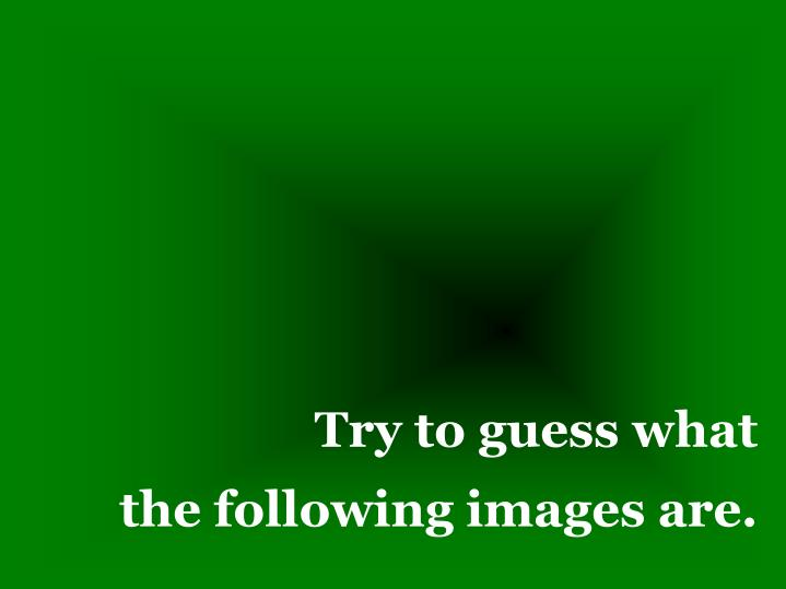 Try to guess what the following images are