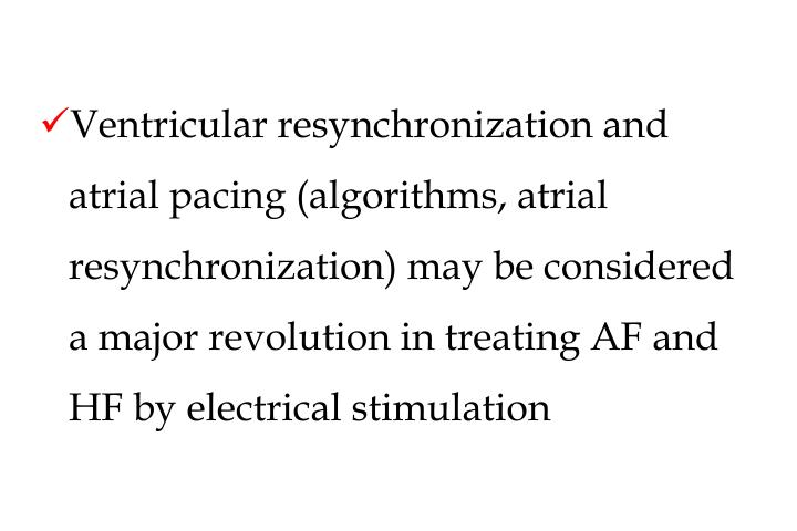 Ventricular resynchronization and