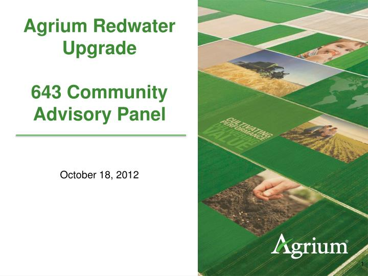 agrium redwater upgrade 643 community advisory panel n.