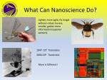 what can nanoscience do
