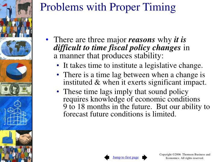 Problems with Proper Timing