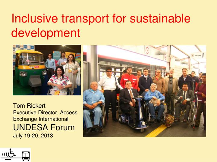 inclusive transport for sustainable development n.
