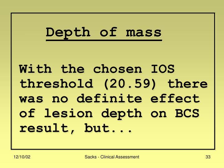 Depth of mass