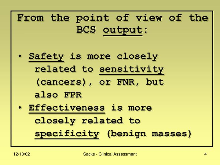 From the point of view of the BCS