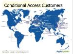conditional access customers