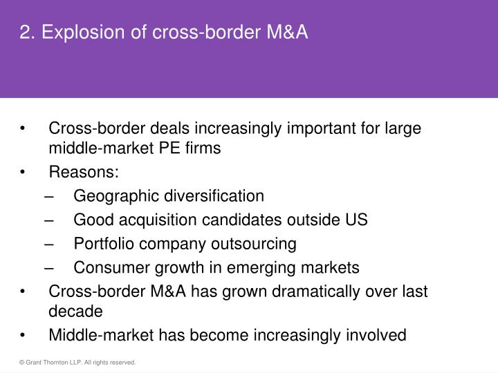 2. Explosion of cross-border M&A