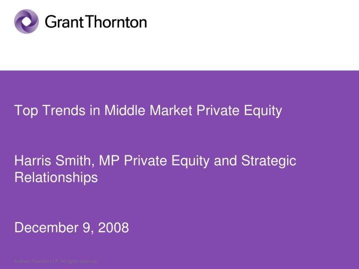 Top Trends in Middle Market Private Equity