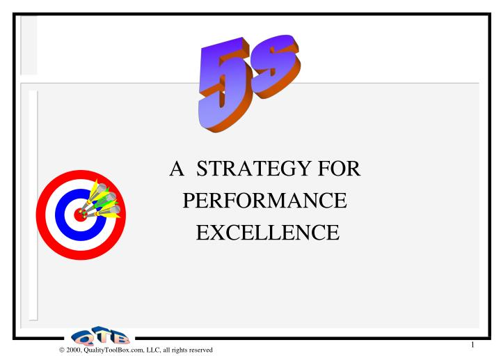 a strategy for performance excellence n.