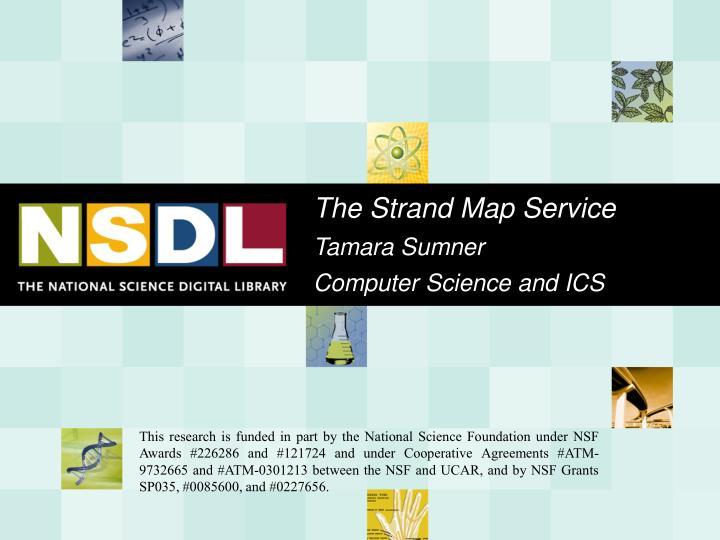 the strand map service tamara sumner computer science and ics n.