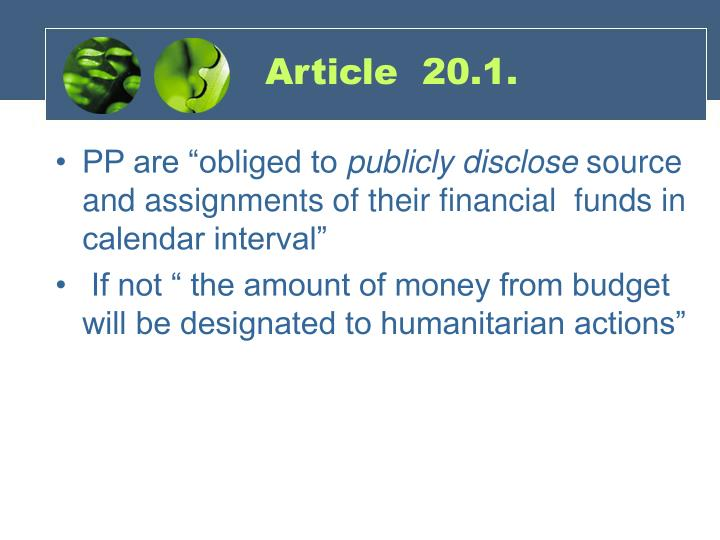 Article  20.1.