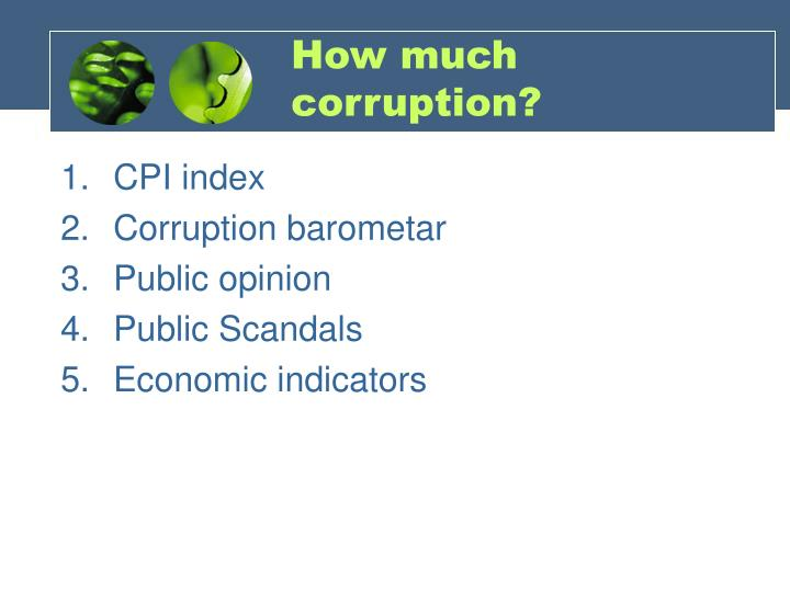 How much corruption