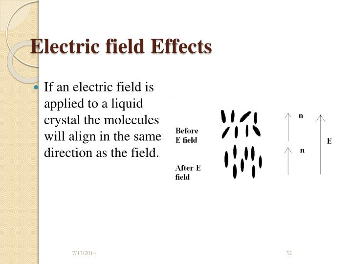 Electric field Effects