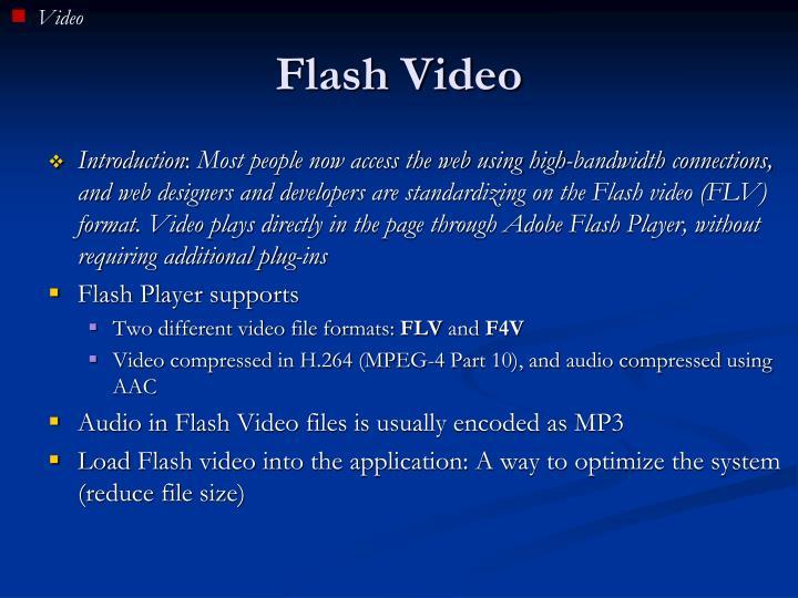Flash video1