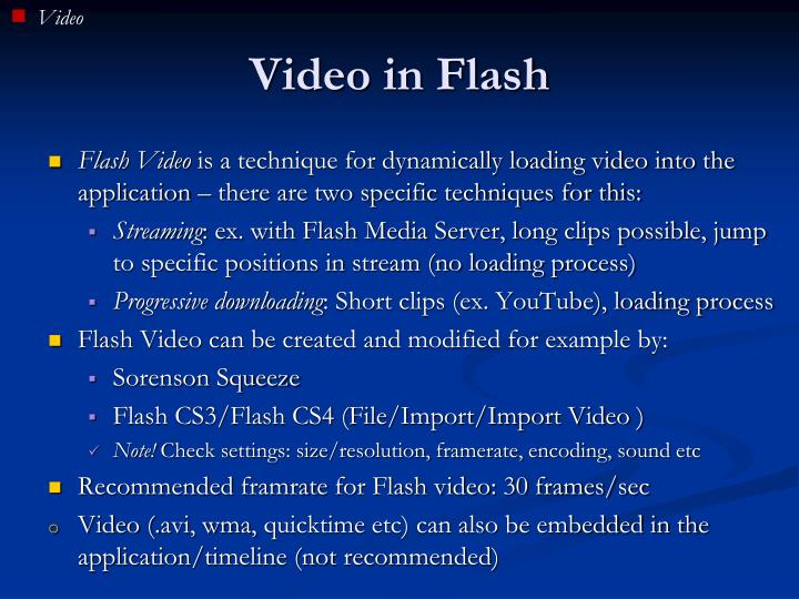 Video in Flash
