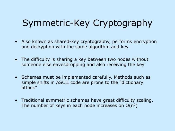 definition and use of symmetric data cryptography and asymmetric data cryptography Symmetric encryption is a way to encrypt or hide the contents of material where the sender and receiver both use the same secret key  when using this mode you must not use the decrypted data until the appropriate finalization method (finalize() or finalize_with_tag()  class cryptographyhazmatprimitivesciphersmodes.