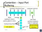 contention input port buffering
