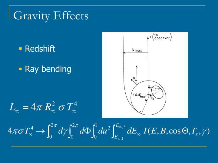 Gravity Effects