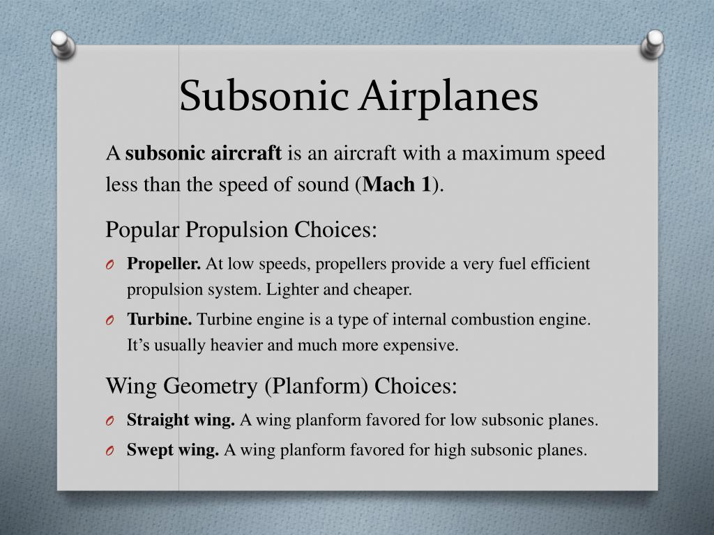 PPT - Subsonic Airplanes PowerPoint Presentation - ID:1744792