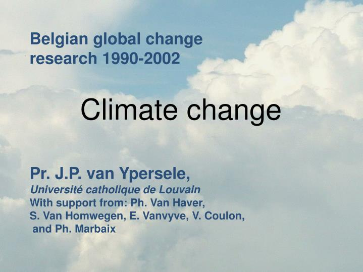 Belgian global change research 1990-2002