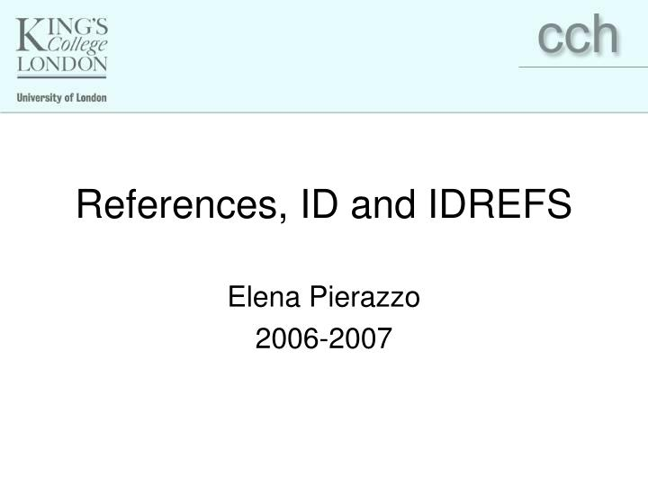 references id and idrefs n.
