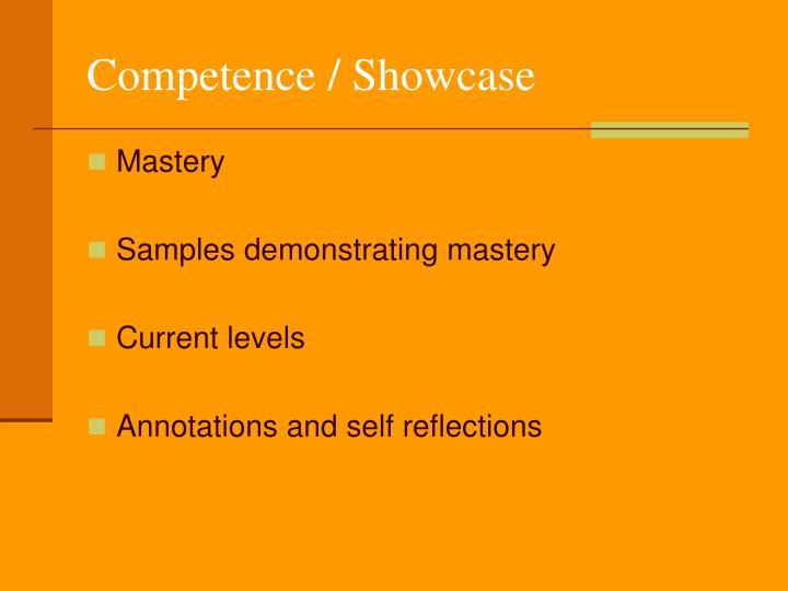 Competence / Showcase