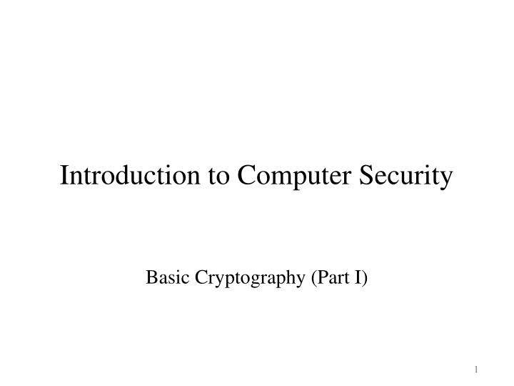 introduction to computer security n.