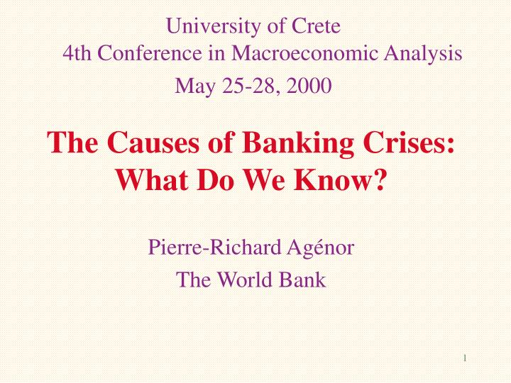 causes of currency crises and banking crises Understanding financial crises: causes, consequences, and policy responses stijn claessens, m ayhan kose, luc laeven, and fabián valencia by now, the tectonic damage left by the global financial crisis of 2007-09 has been well.