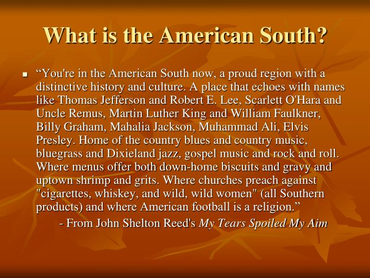 What is the American South?