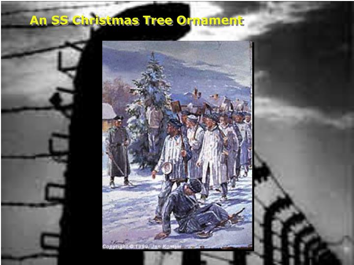 An SS Christmas Tree Ornament