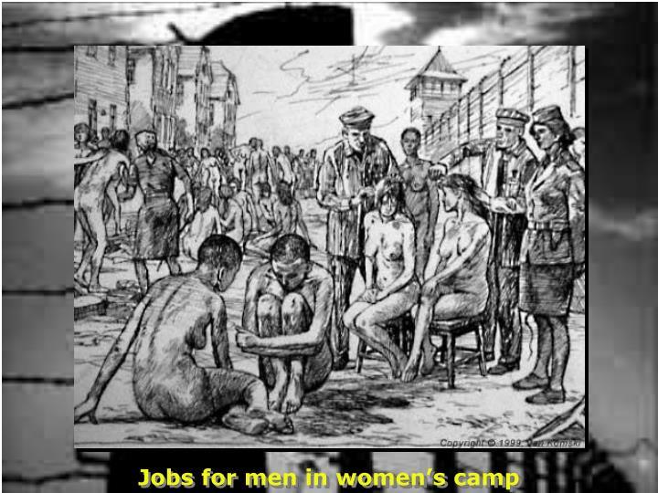 Jobs for men in women's camp