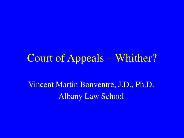 court of appeals whither n.