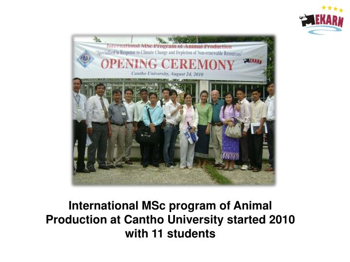International MSc program of Animal Production at