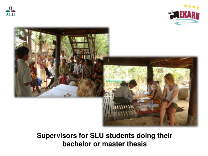 Supervisors for SLU students doing their bachelor or master thesis