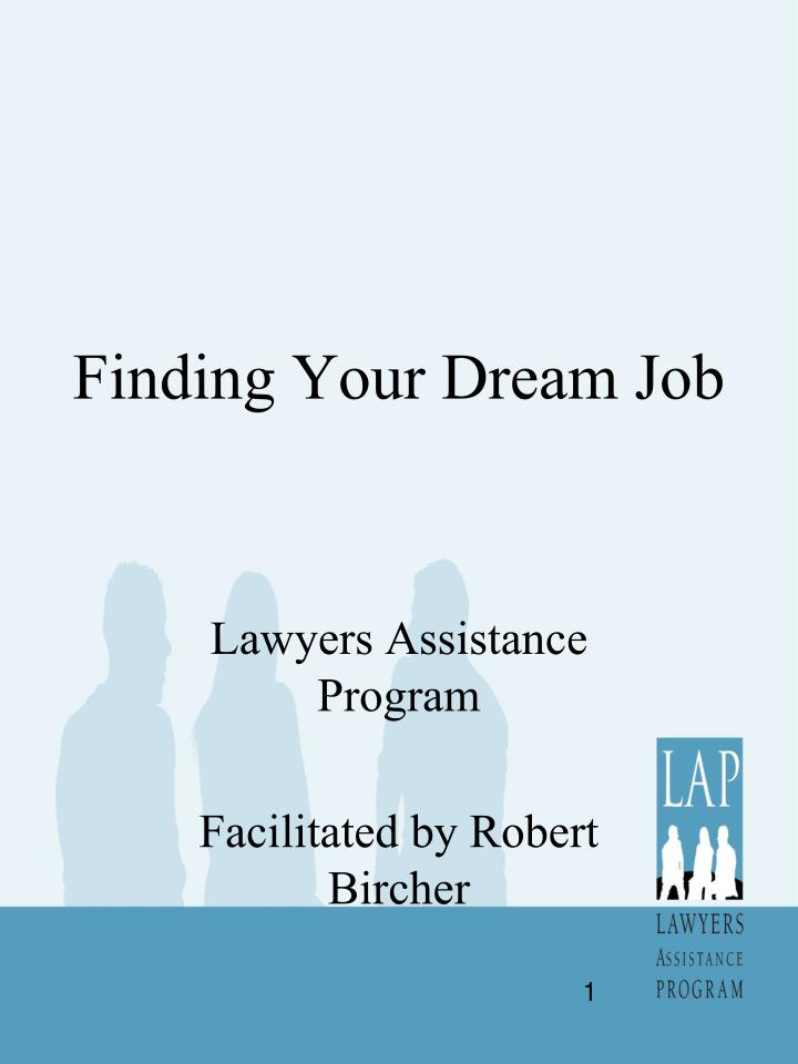 finding your dream job n.