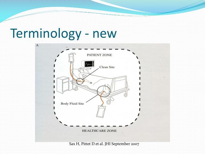 Terminology - new