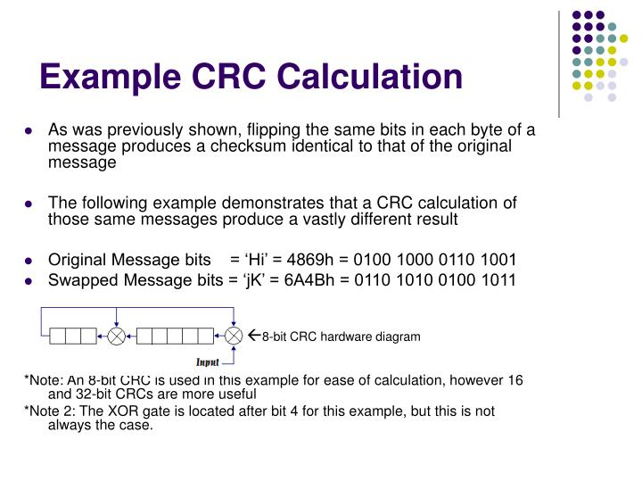 PPT - Example CRC Calculation PowerPoint Presentation - ID:1745380