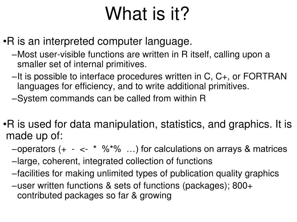 PPT - R para Principiantes PowerPoint Presentation - ID:1745418