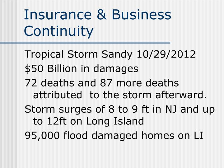 insurance business continuity n.
