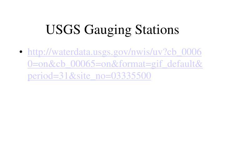 USGS Gauging Stations